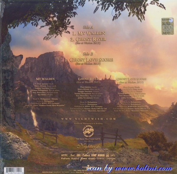 My walden, ghost river by Nightwish, 12 inch x 1 with lbatini